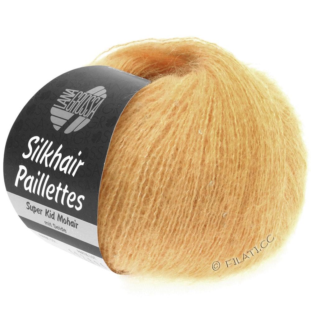 Lana Grossa SILKHAIR Paillettes | 413-abricot