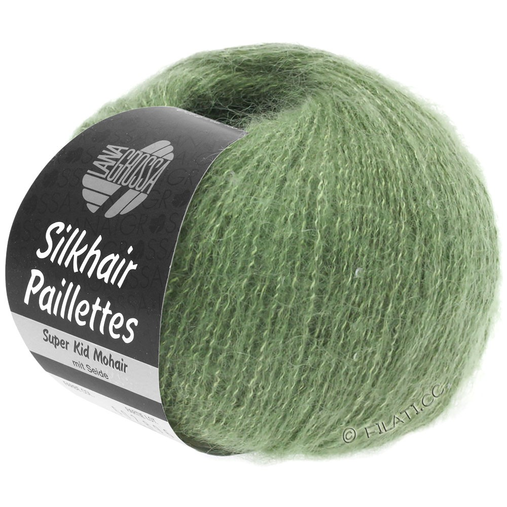 Lana Grossa SILKHAIR Paillettes | 420-vert réséda