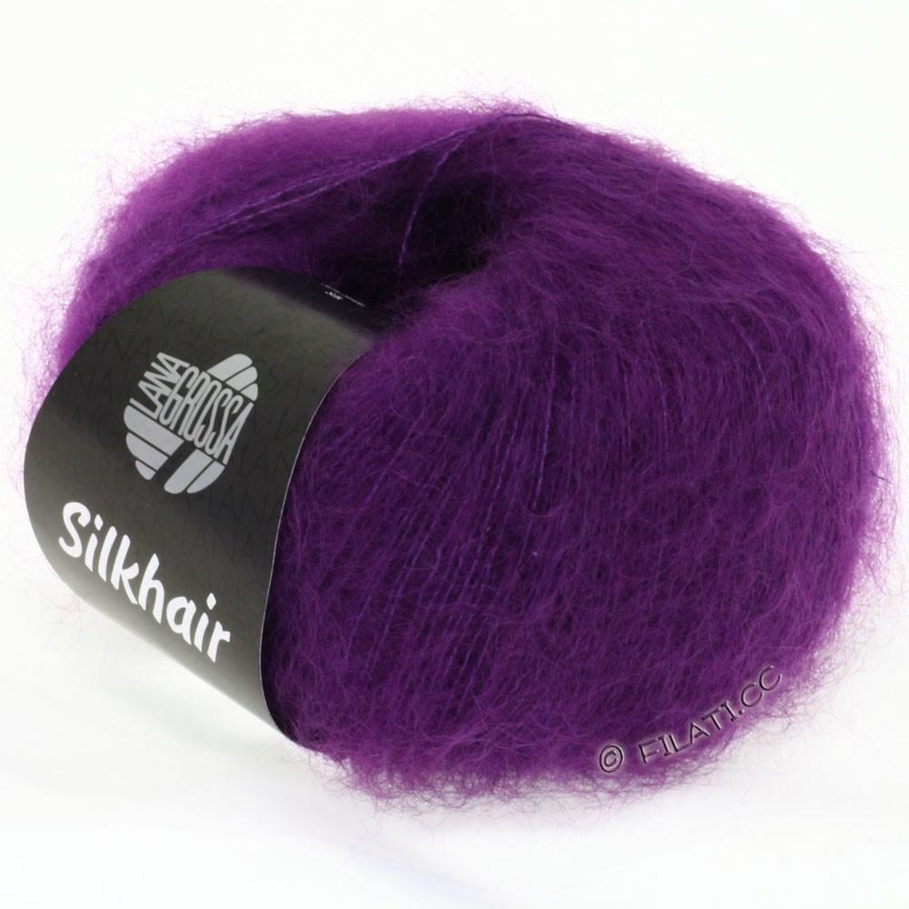 Lana Grossa SILKHAIR  Uni/Melange   006-violet