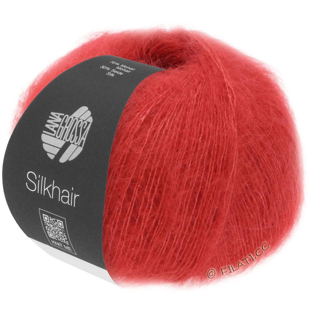 Lana Grossa SILKHAIR  Uni/Melange | 008-rouge cerise