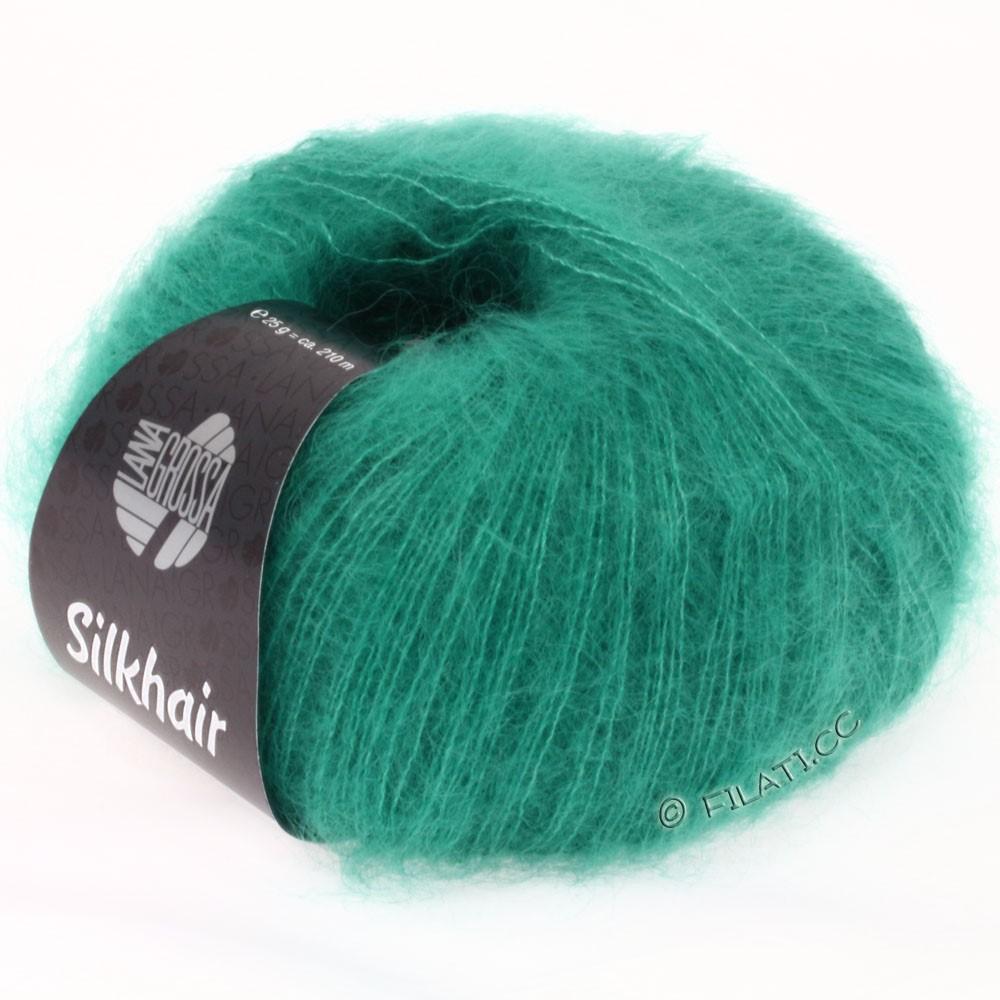 Lana Grossa SILKHAIR  Uni/Melange | 022-vert turquoise
