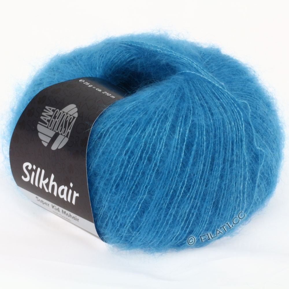 Lana Grossa SILKHAIR  Uni/Melange   068-bleu turquoise