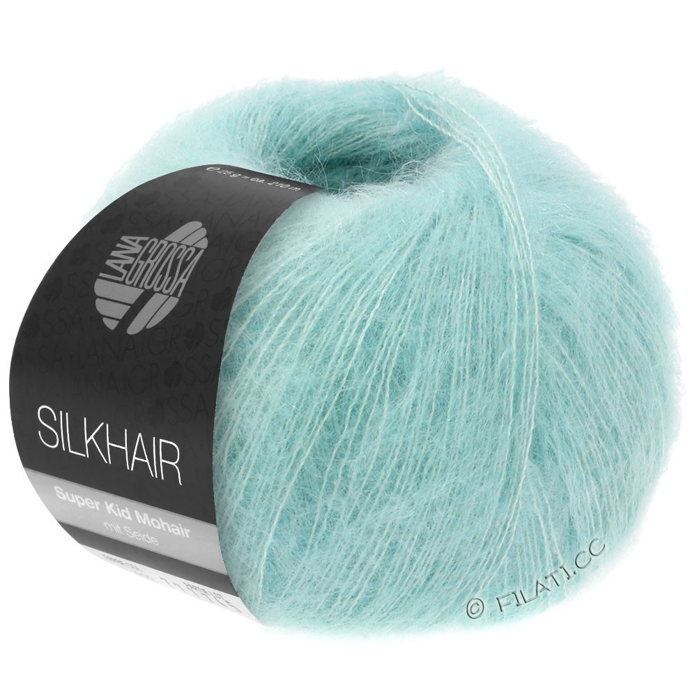 Lana Grossa SILKHAIR  Uni/Melange | 082-turquoise clair