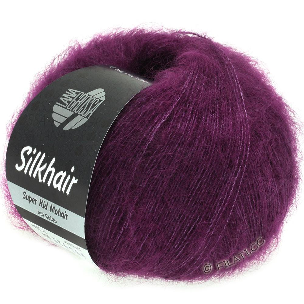Lana Grossa SILKHAIR  Uni/Melange | 100-violet rouge