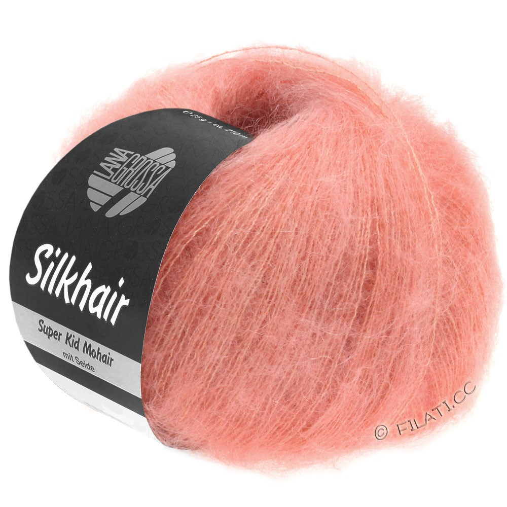 Lana Grossa SILKHAIR  Uni/Melange | 102-rose saumon