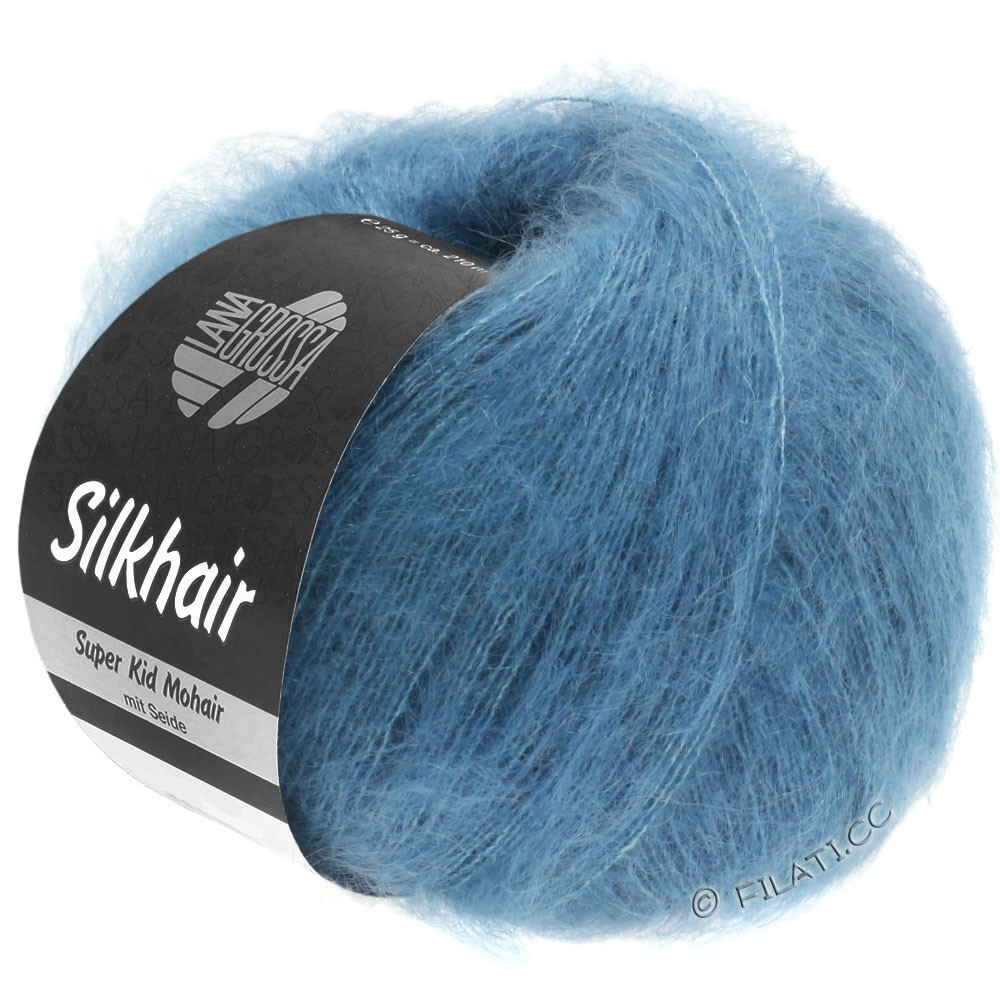 Lana Grossa SILKHAIR  Uni/Melange | 103-bleu jean