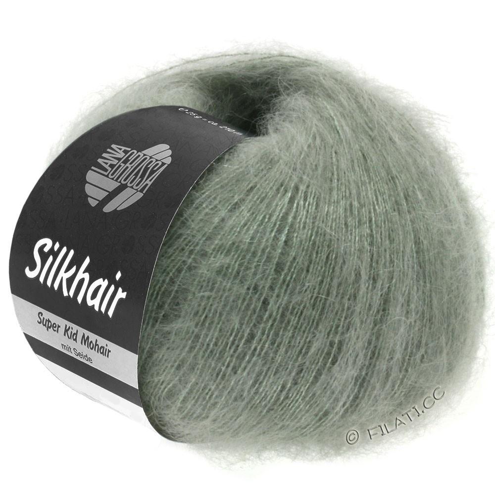 Lana Grossa SILKHAIR  Uni/Melange | 105-gris vert