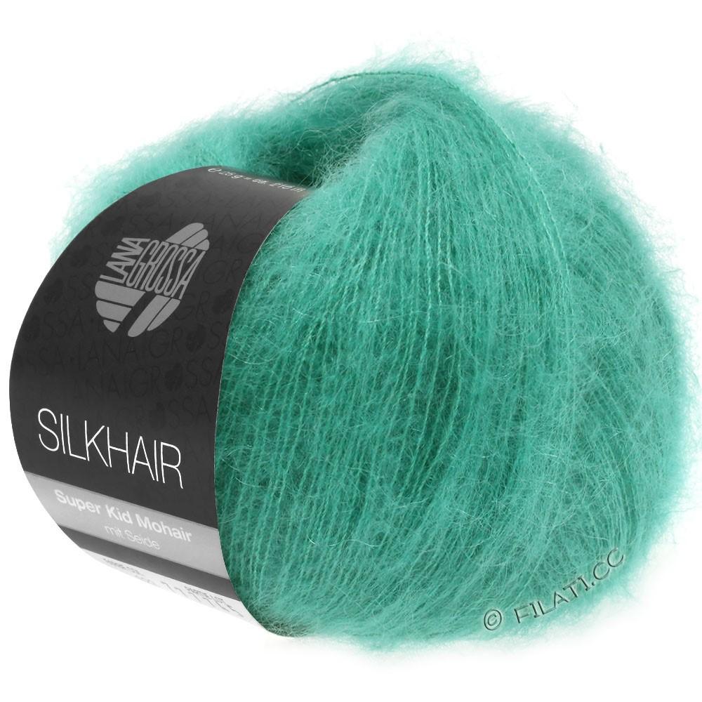 Lana Grossa SILKHAIR  Uni/Melange | 120-vert turquoise