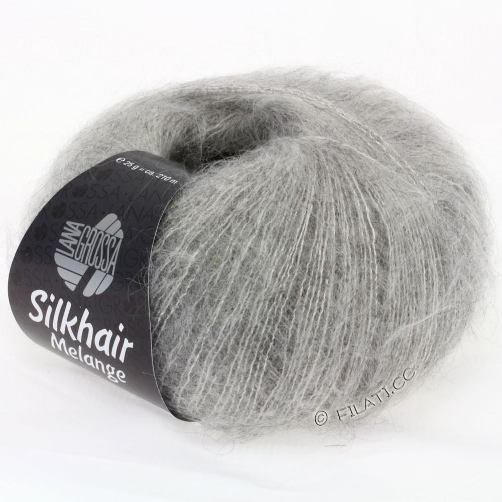 Lana Grossa SILKHAIR  Uni/Melange | 702-gris clair/beige clair chiné