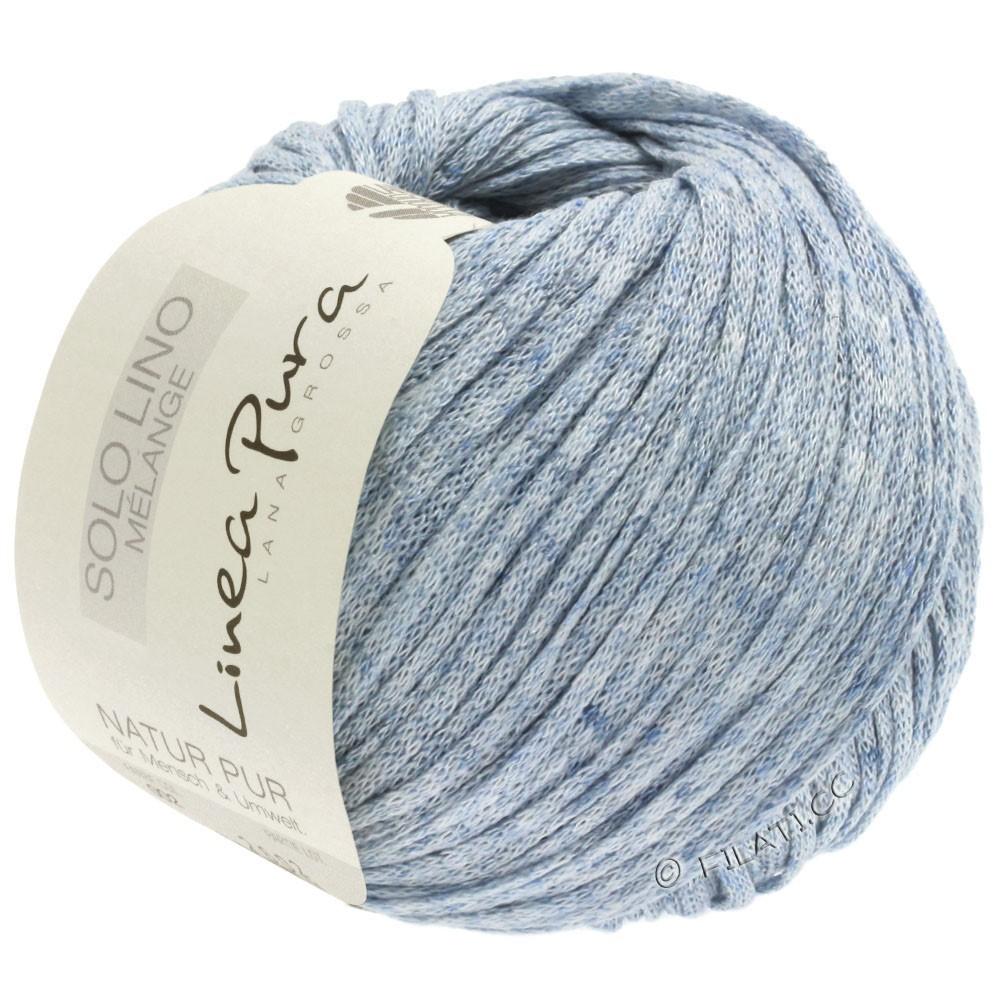 Lana Grossa SOLO LINO MELANGE (Linea Pura) | 108-bleu pastel chiné