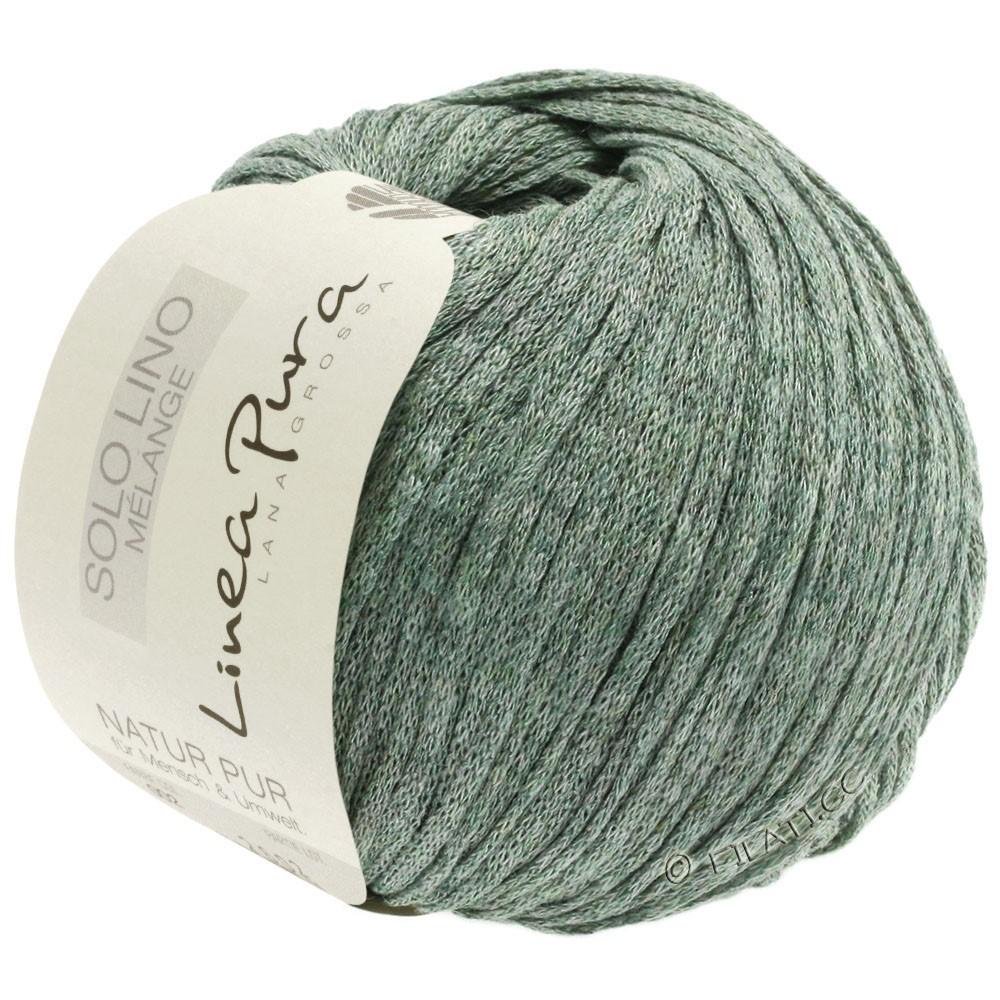 Lana Grossa SOLO LINO MELANGE (Linea Pura) | 109-gris vert chiné