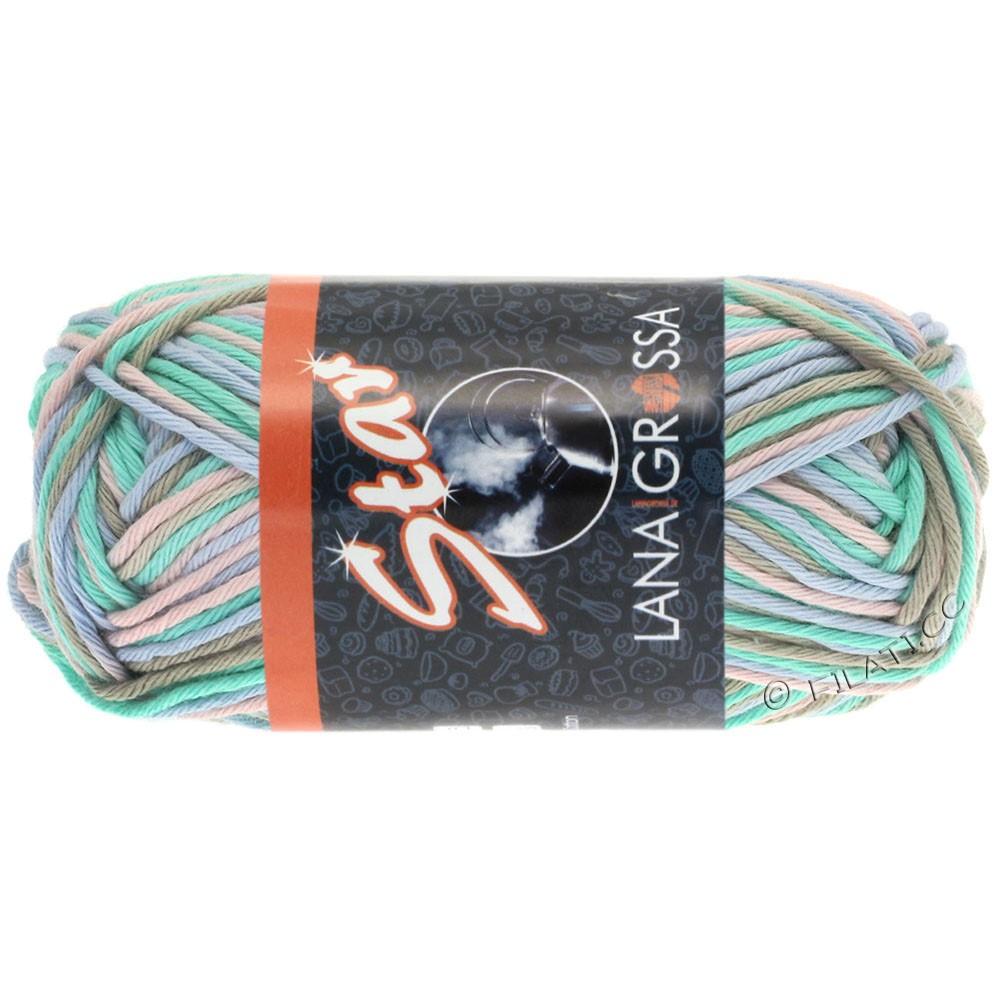 Lana Grossa STAR Print | 323-vert tendre/beige gris/rosé/bleu tendre