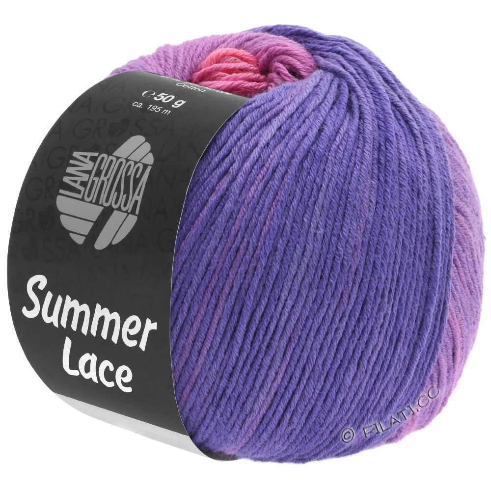 Lana Grossa SUMMER LACE DEGRADÉ | 102-rose/lilas/pourpre/violet bleu