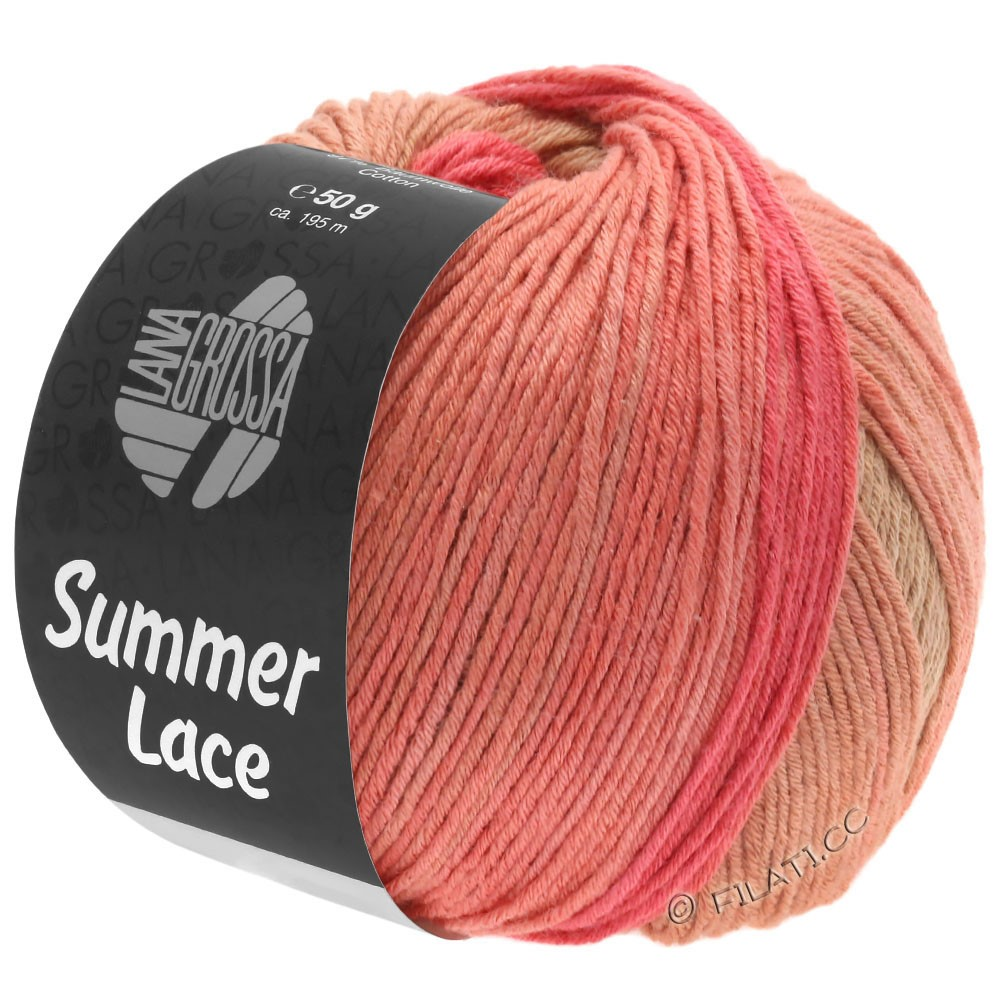 Lana Grossa SUMMER LACE DEGRADÉ | 105-kaki clair/chameau/saumon