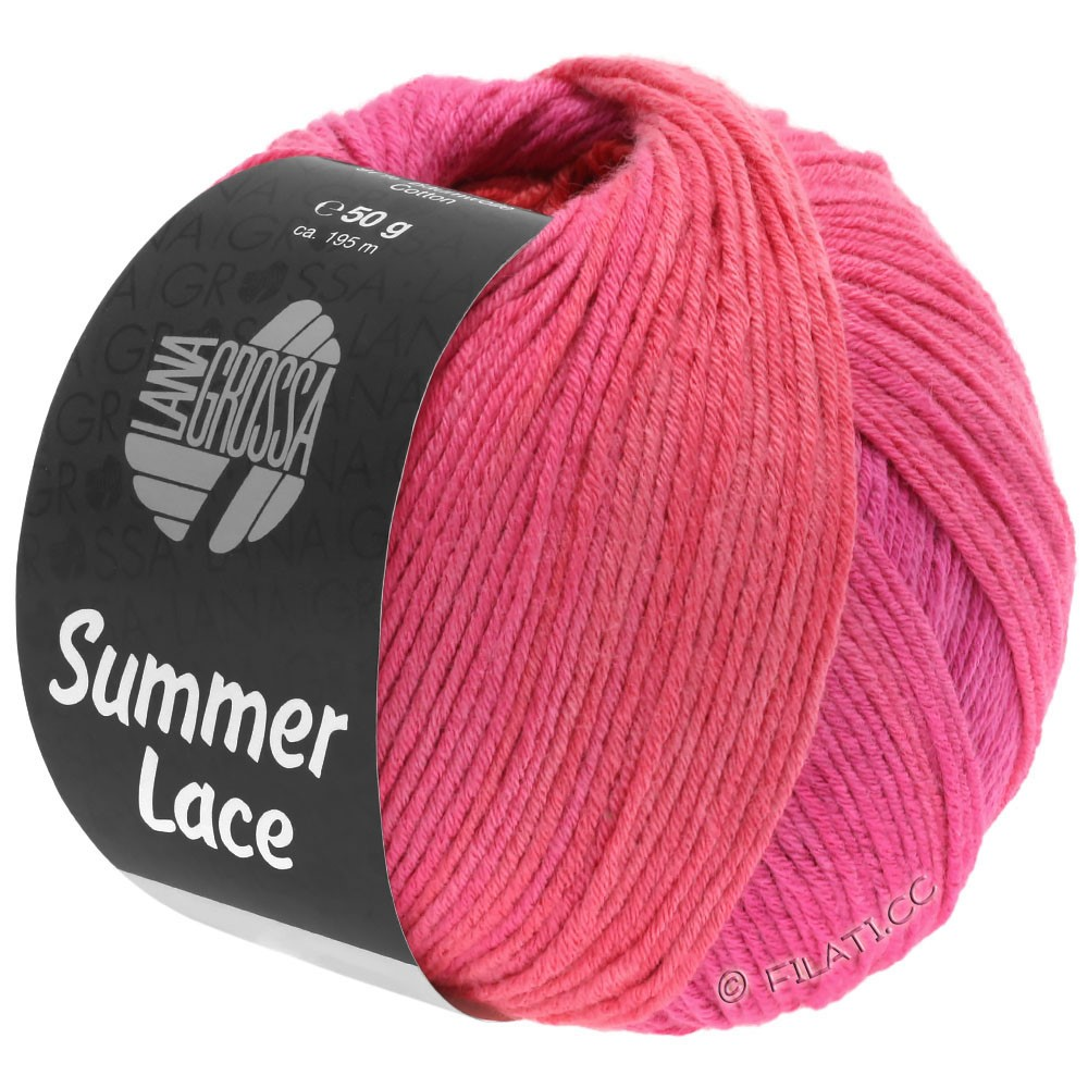 Lana Grossa SUMMER LACE DEGRADÉ | 111-cyclamen/rose vif/rouge