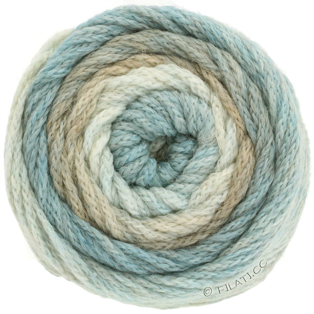 Lana Grossa SUPER COLOR | 101-nature/beige/bleu clair/bleu beige