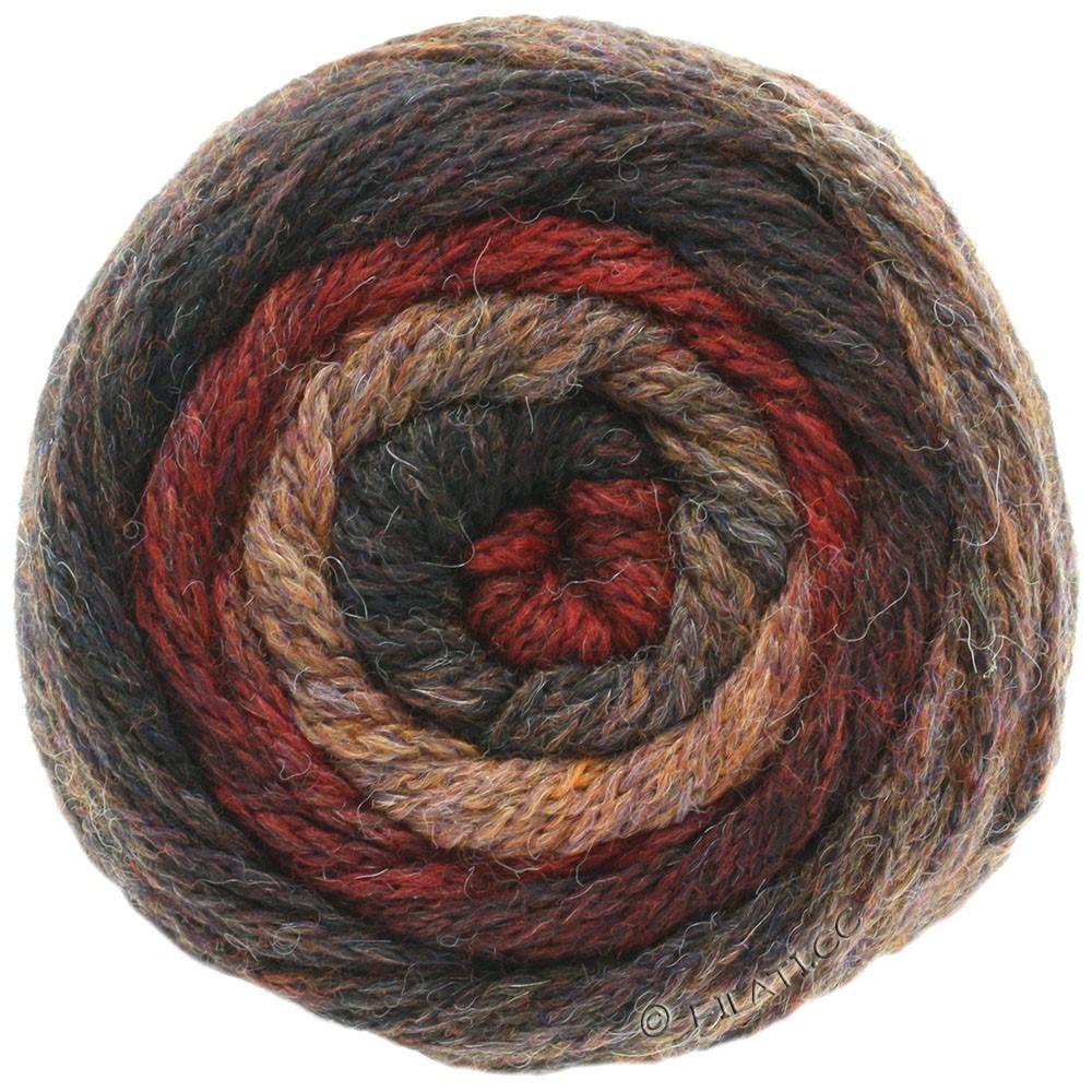 Lana Grossa SUPER COLOR | 107-nougat/rouge foncé/brun gris/moka