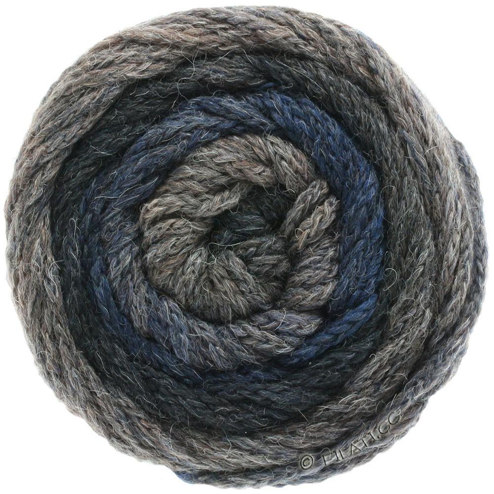 Lana Grossa SUPER COLOR | 109-gris foncé/anthracite/noir/bleu foncé