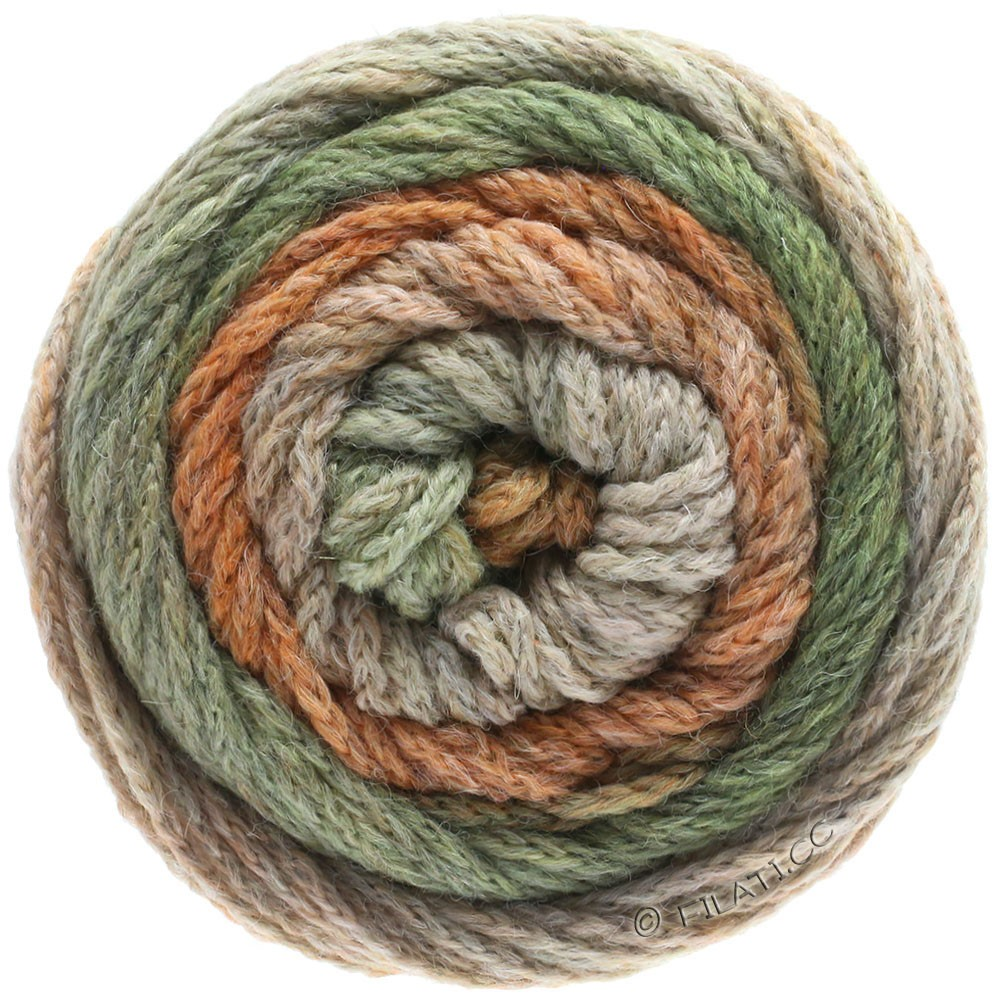 Lana Grossa SUPER COLOR | 113-beige/chameau/gris vert/orange clair