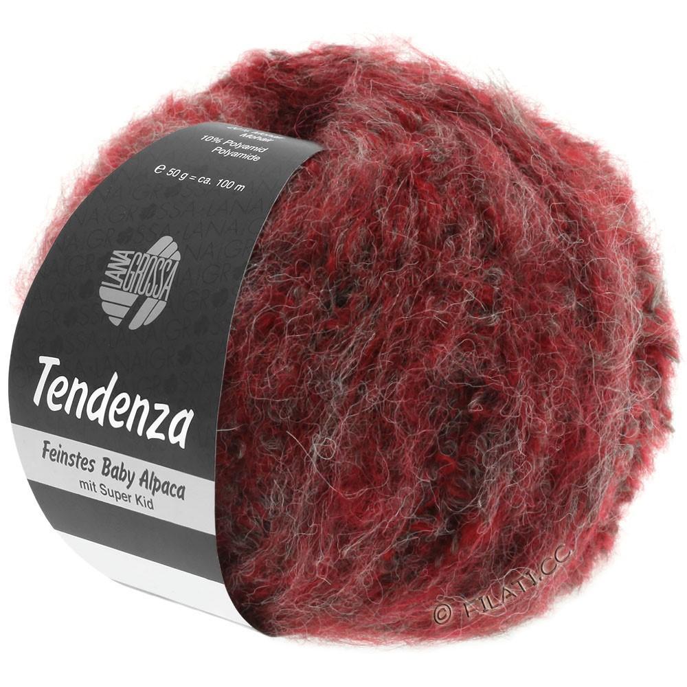 Lana Grossa TENDENZA   003-rouge/gris