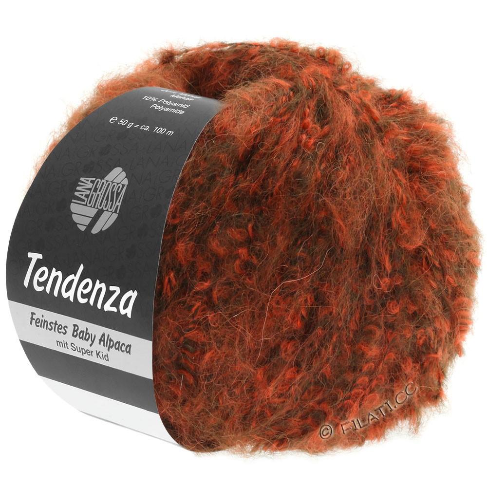 Lana Grossa TENDENZA | 006-brun foncé/orange
