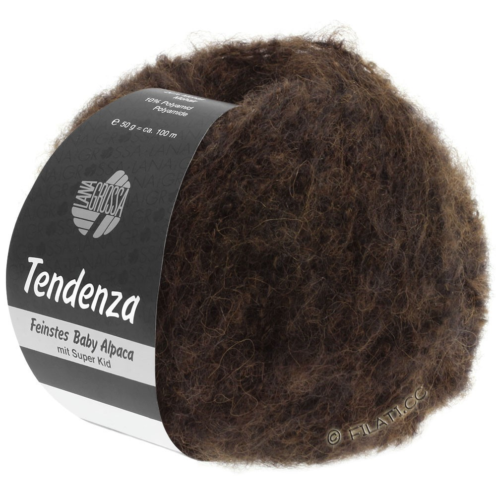 Lana Grossa TENDENZA | 012-brun foncé/noir