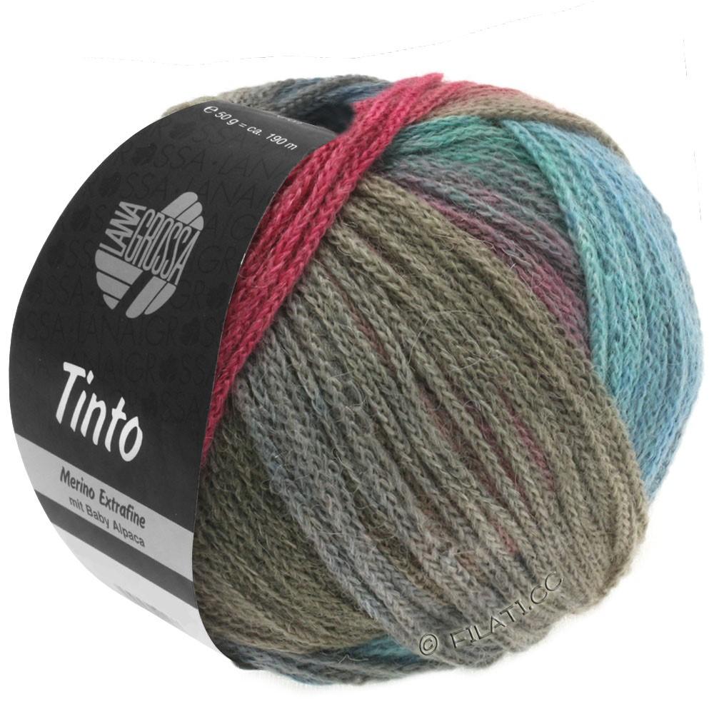 Lana Grossa TINTO   01-turquoise/baies/gris/kaki/bleu