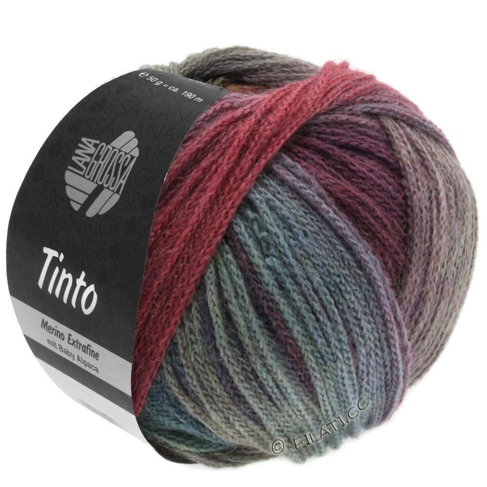 Lana Grossa TINTO   05-rouge/turquoise/baies/menthe/pétrole/bleu foncé