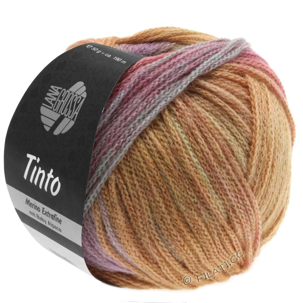 Lana Grossa TINTO | 07-jaune tendre/saumon/turquoise clair/lilas/beige