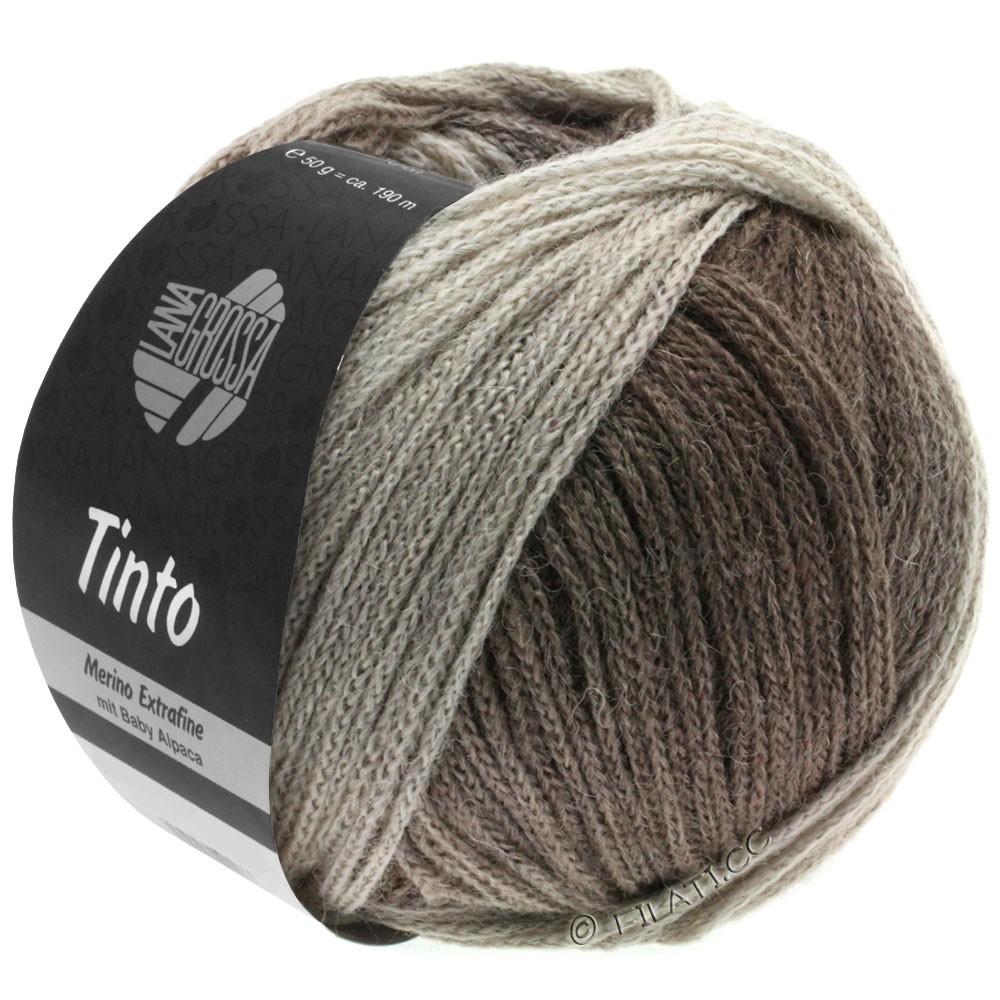 Lana Grossa TINTO   12-grège/gris pierre/brun gris/galet