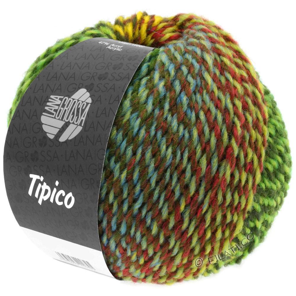 Lana Grossa TIPICO   01-vert clair/vert foncé/brun/jaune