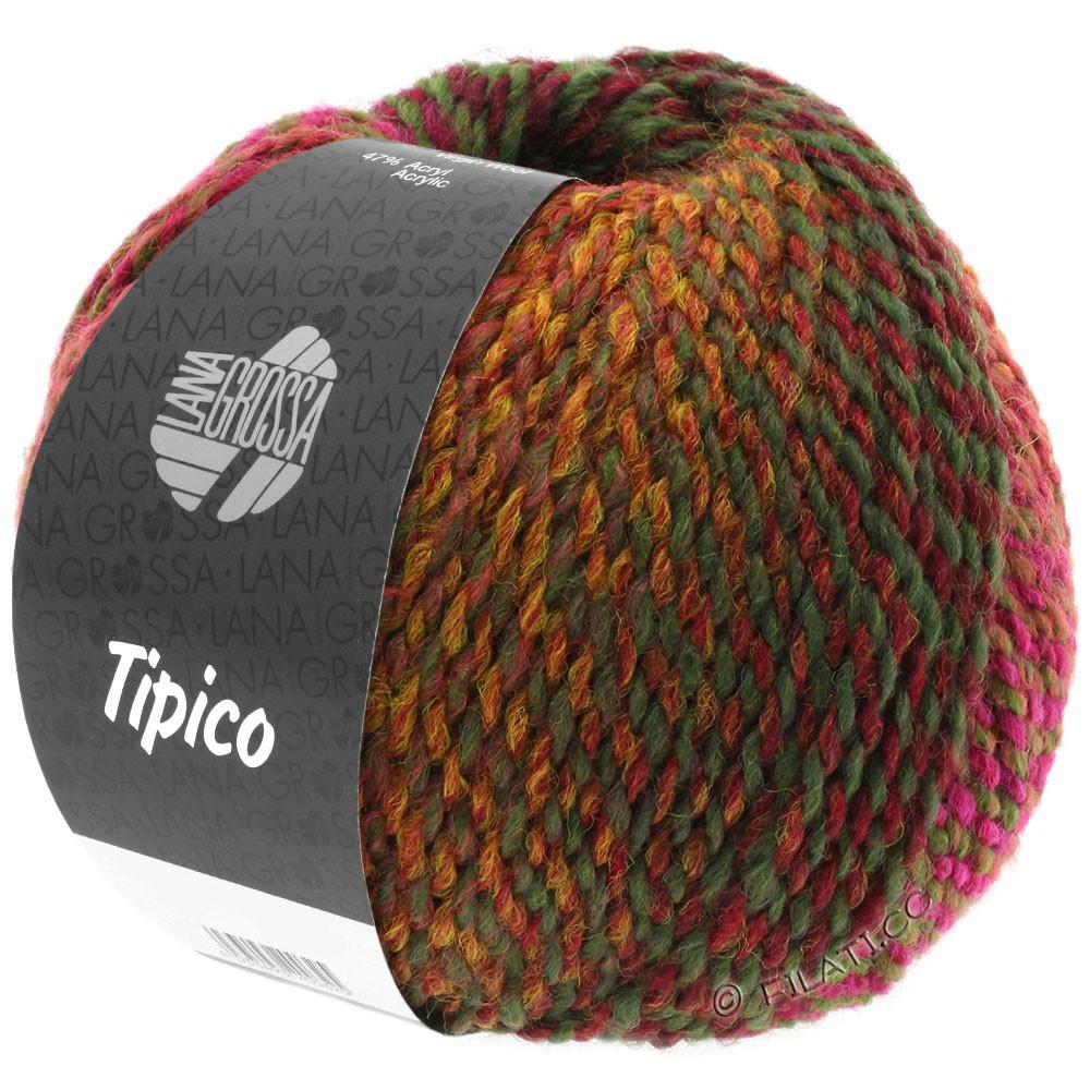Lana Grossa TIPICO   02-rouge brique/bordeaux/brun/kaki
