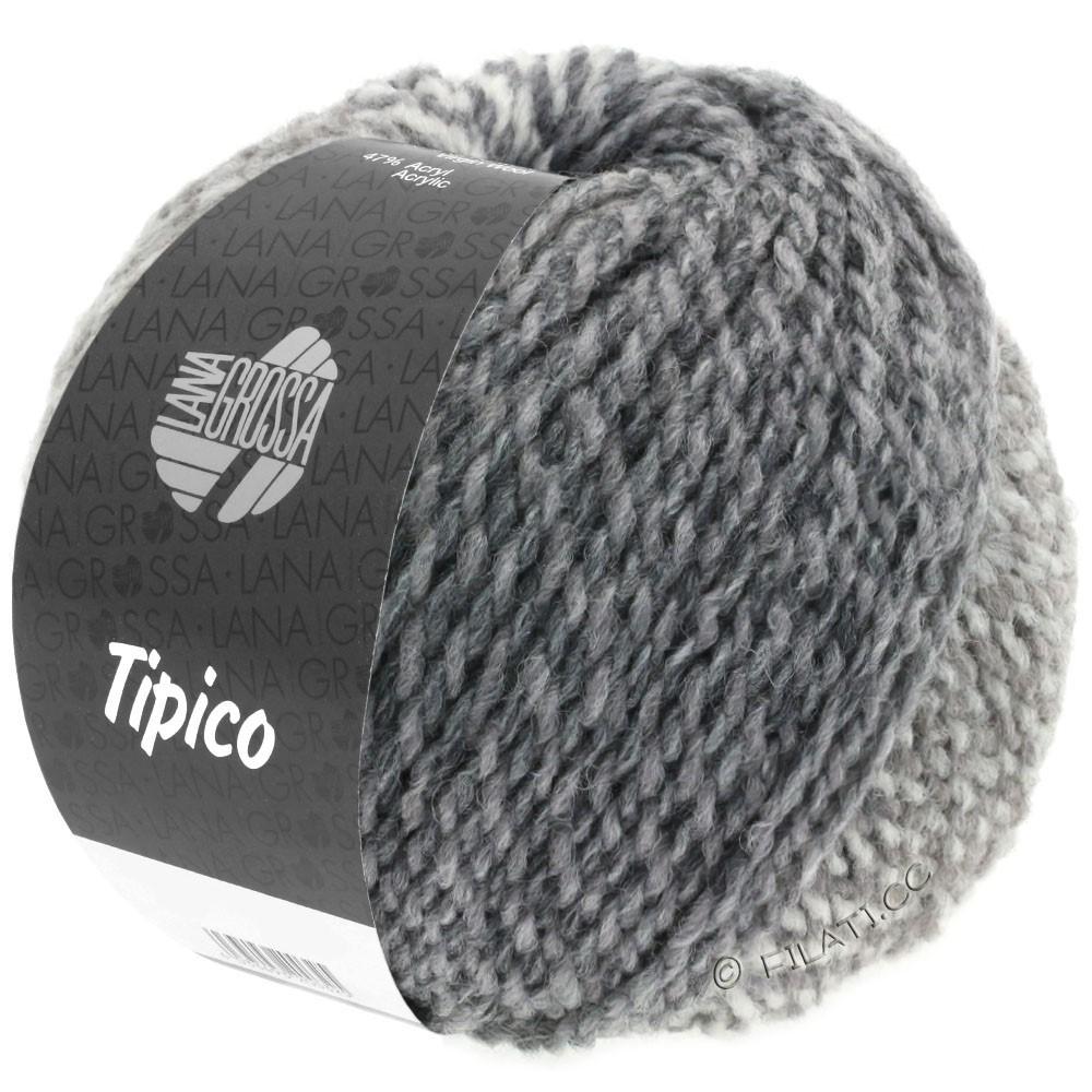 Lana Grossa TIPICO   05-blanc/gris clair/gris foncé