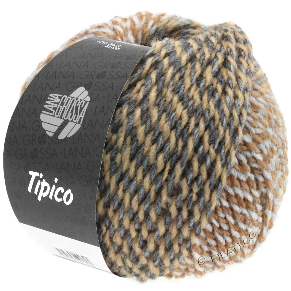 Lana Grossa TIPICO   06-gris clair/gris foncé/chameau