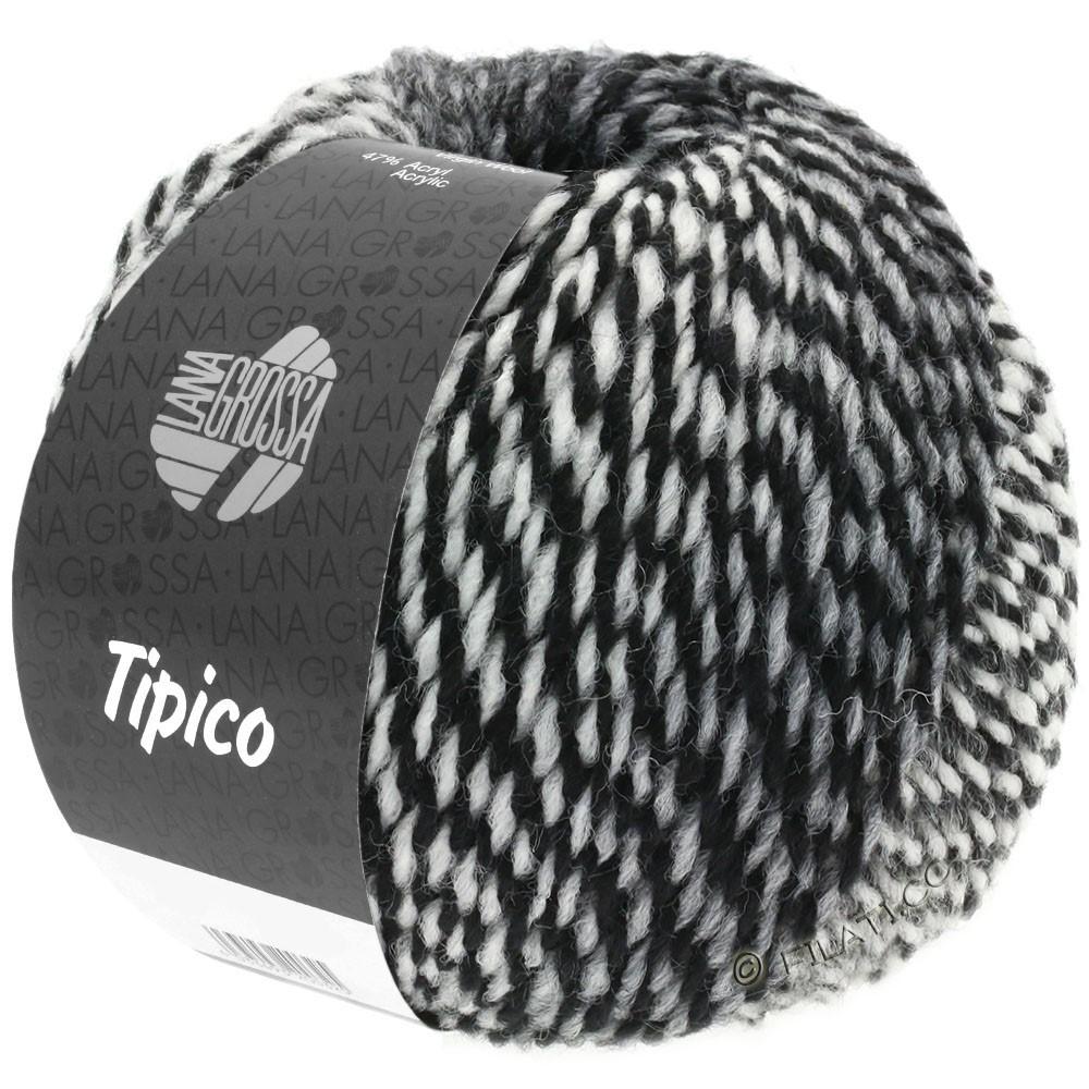 Lana Grossa TIPICO   07-blanc/gris/noir