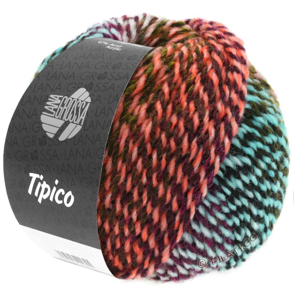 Lana Grossa TIPICO | 08-rose/baies/turquoise/saumon/vert