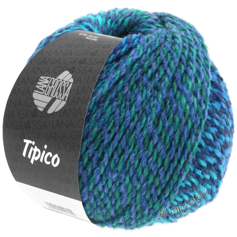 Lana Grossa TIPICO   11-bleu foncé/turquoise/pétrole