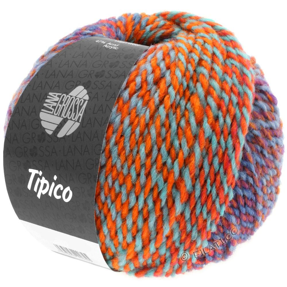 Lana Grossa TIPICO | 12-bleu/rouille/turquoise/orange