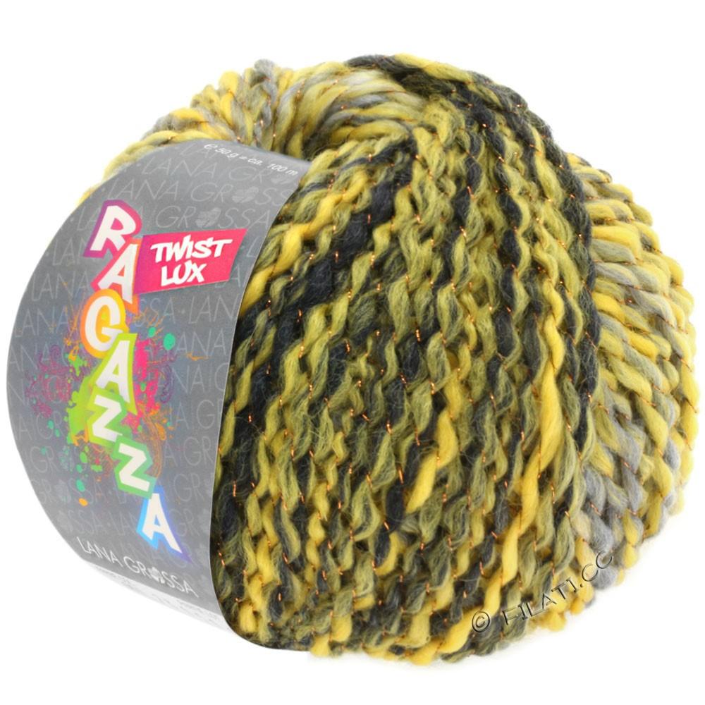 Lana Grossa TWIST Lux (Ragazza) | 105-jaune/gris clair/gris foncé/cuivre