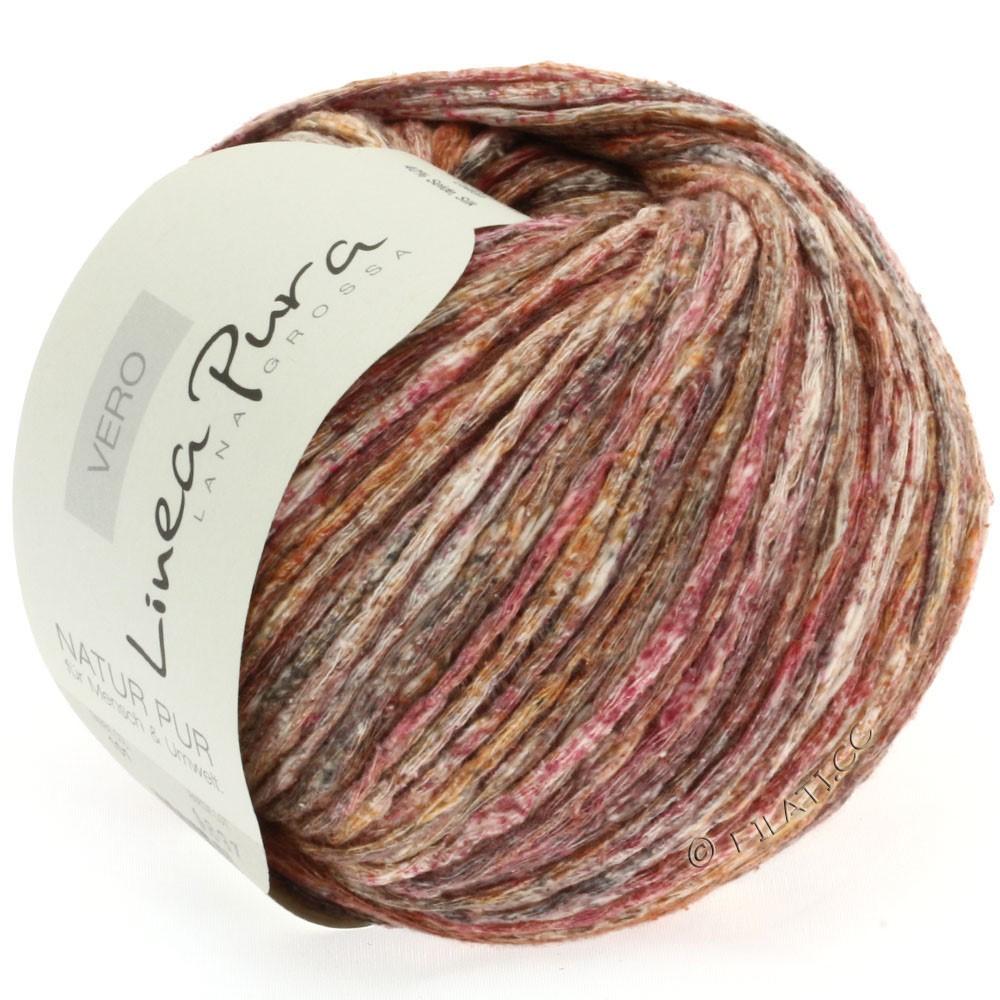 Lana Grossa VERO uni/print (Linea Pura) | 101-brun rouge/brun gris/nature