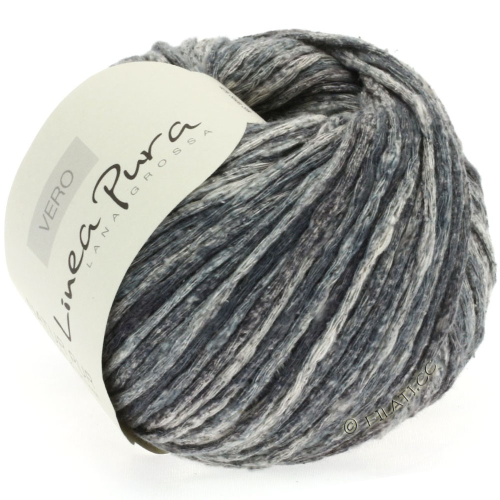 Lana Grossa VERO uni/print (Linea Pura) | 108-gris foncé/nature