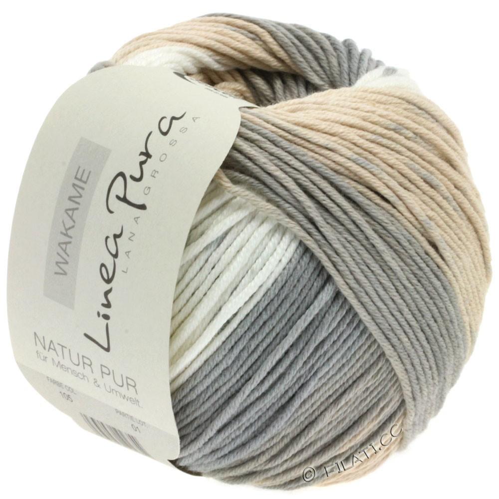 Lana Grossa WAKAME Uni/Print (Linea Pura) | 105-nature/beige/grège/sable/gris