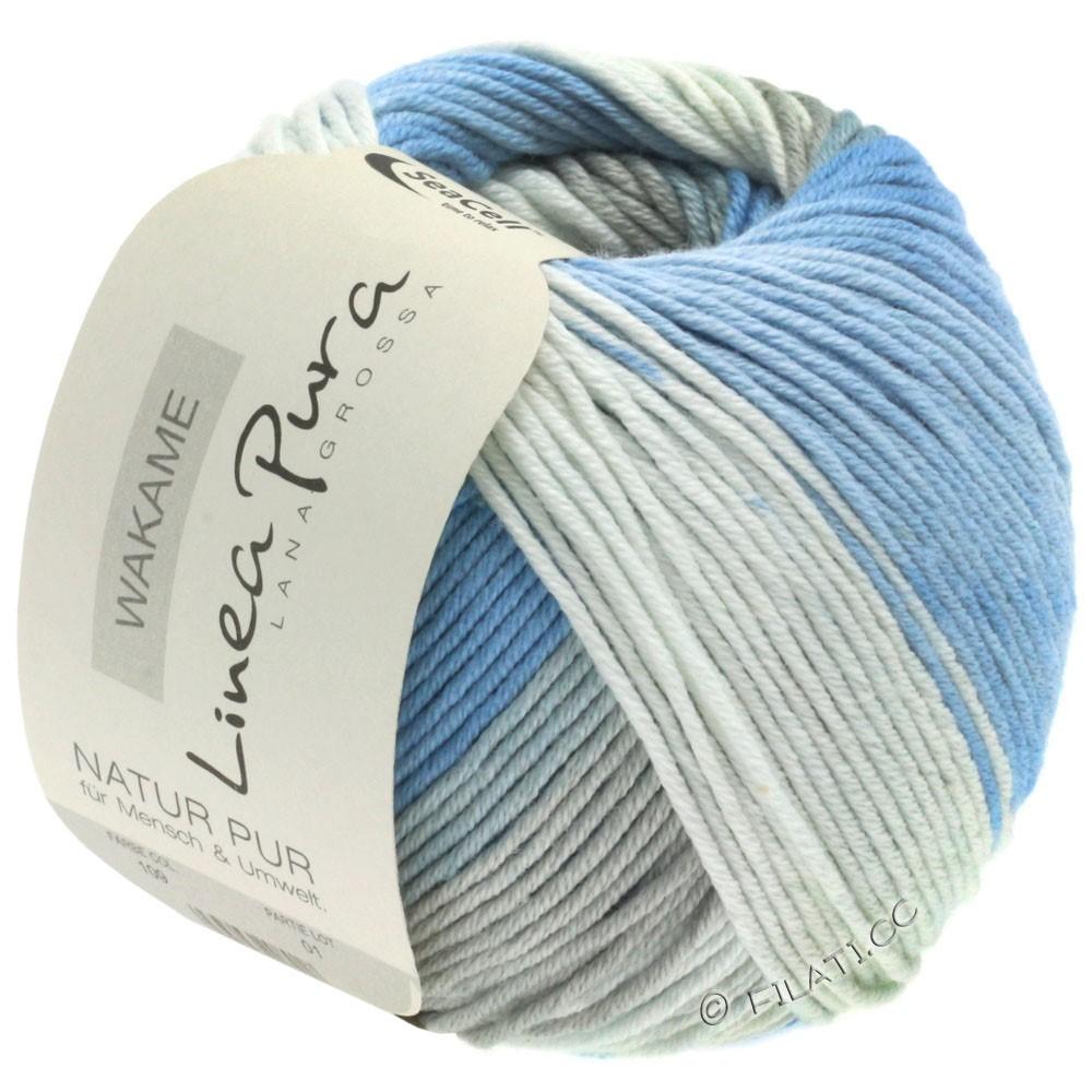 Lana Grossa WAKAME Uni/Print (Linea Pura) | 109-blanc/bleu/gris/jean