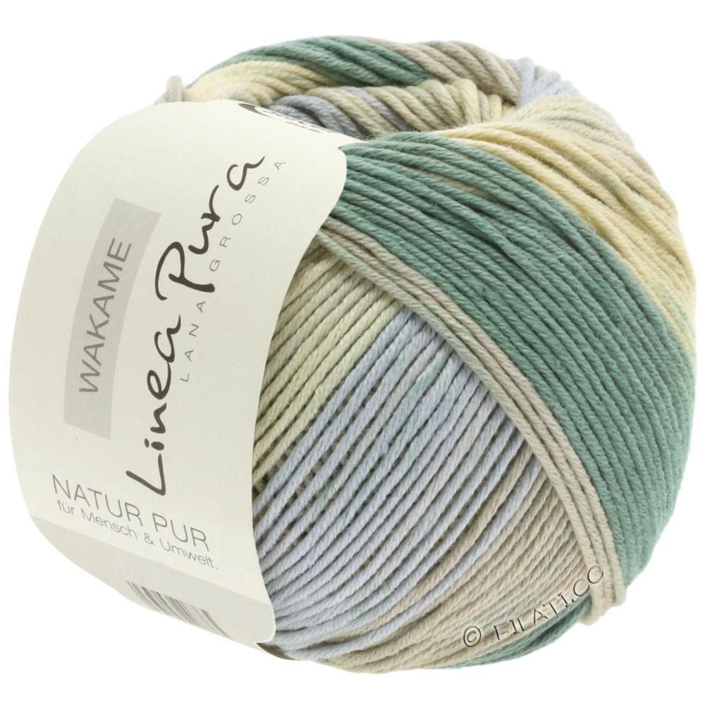 Lana Grossa WAKAME Uni/Print (Linea Pura) | 112-beige/gris/kaki/sable