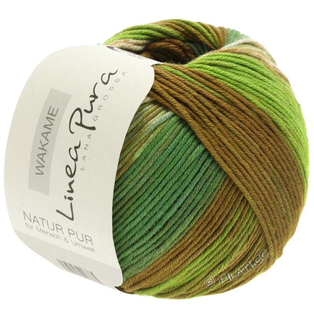 Lana Grossa WAKAME Uni/Print (Linea Pura) | 113-beige/brun/vert clair/vert foncé