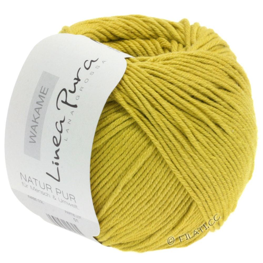 Lana Grossa WAKAME Uni/Print (Linea Pura) | 023-jaune moutarde