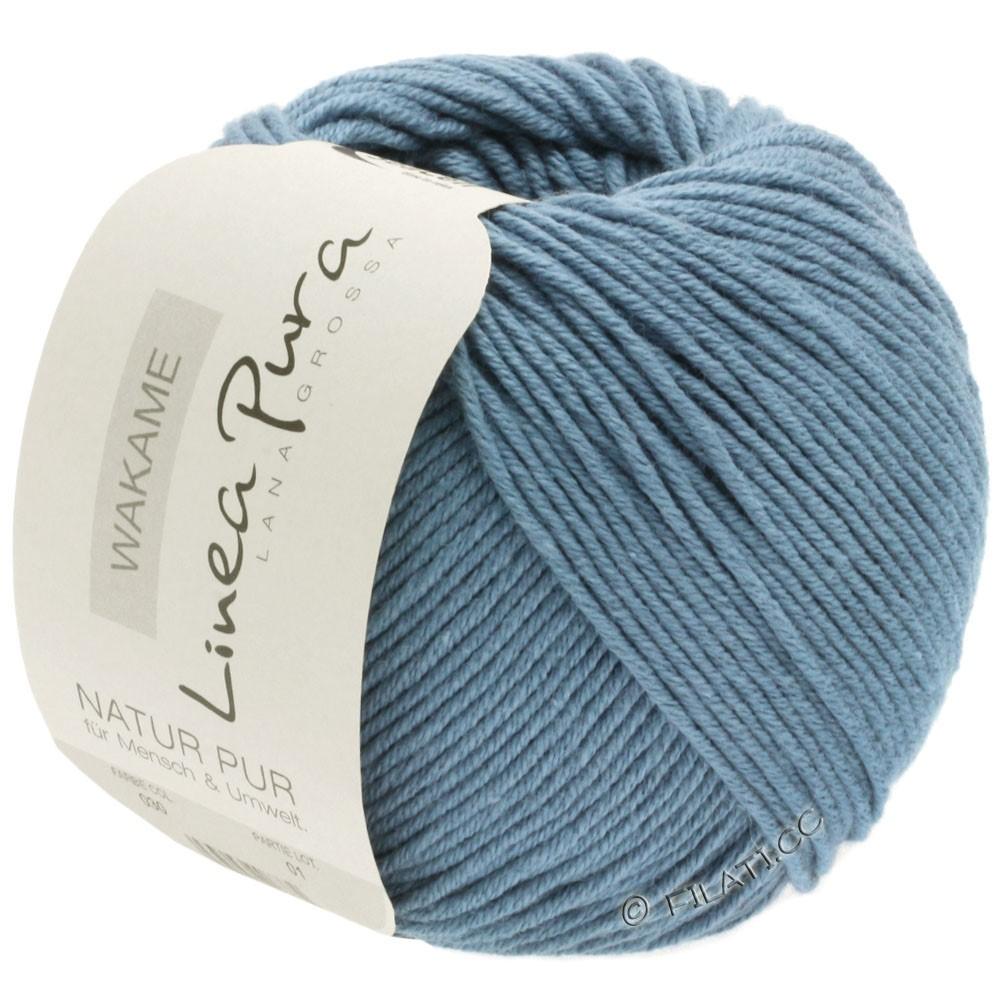 Lana Grossa WAKAME Uni/Print (Linea Pura) | 030-bleu gris