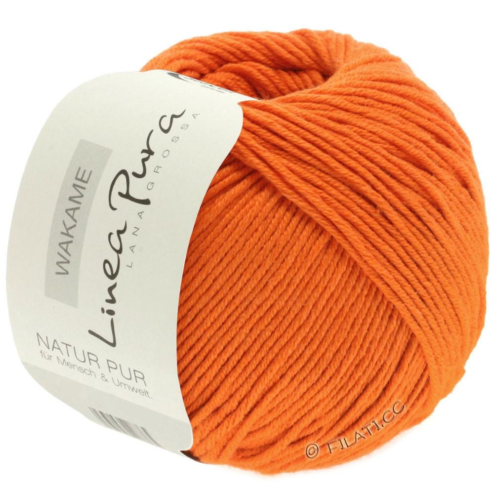 Lana Grossa WAKAME Uni/Print (Linea Pura) | 036-orange
