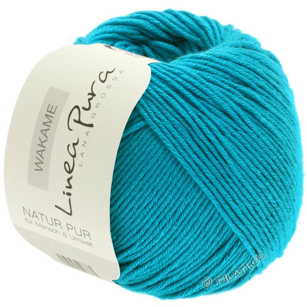 Lana Grossa WAKAME Uni/Print (Linea Pura) | 041-turquoise bleu