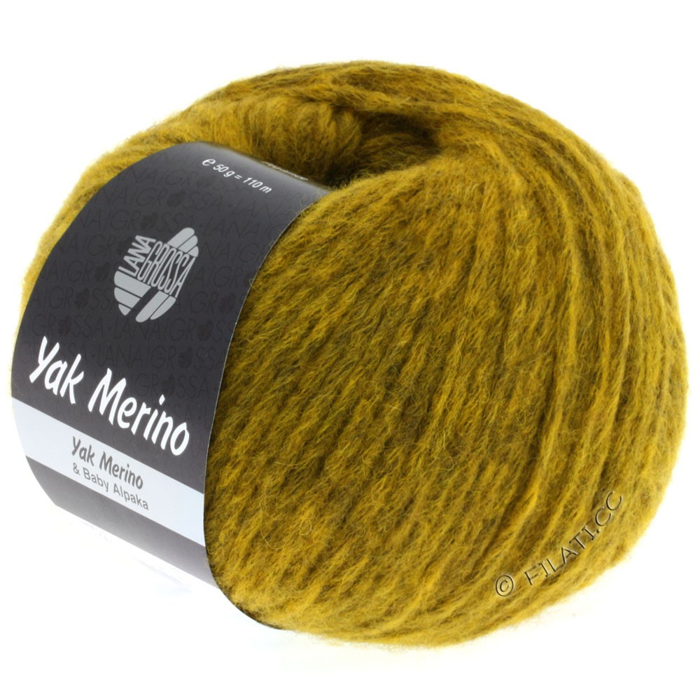 Lana Grossa YAK MERINO | 001-curry chiné
